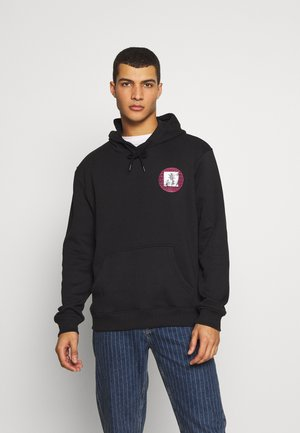 FRONT BACK GRAPHIC HOODY - Hoodie - black