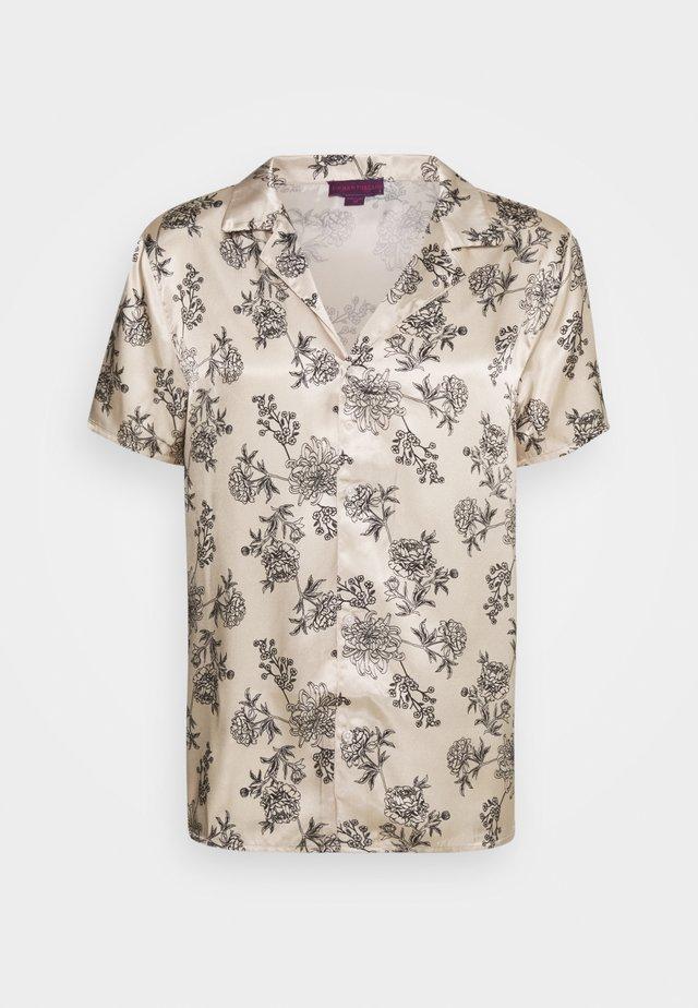PRINTED FLORAL REVERE - T-shirt imprimé - black/ecru