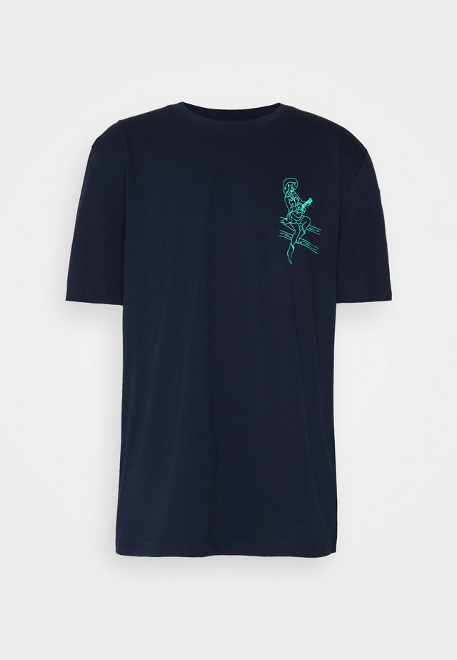 GRAPHIC  - T-shirts med print - navy