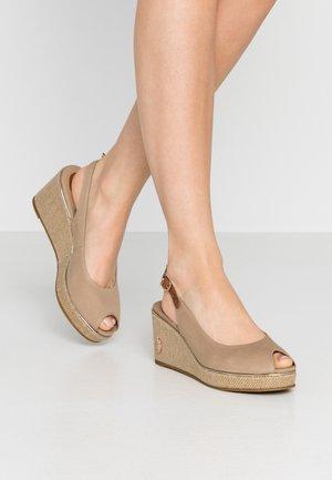 VICTORIA - Platform sandals - beige