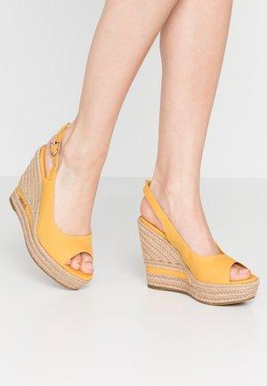 AFRODITE - High heeled sandals - yellow