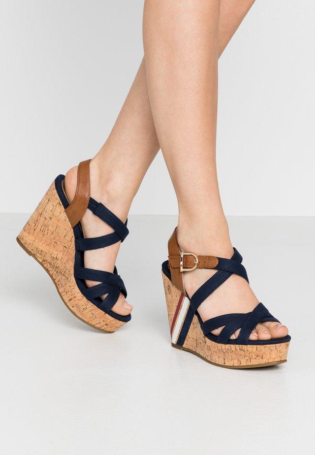 CAMILA - High heeled sandals - dark blue