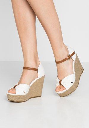 MORGANA - High heeled sandals - white