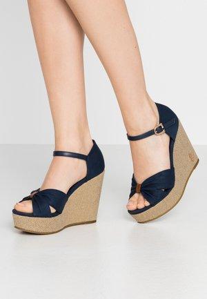 MORGANA - High heeled sandals - dark blue