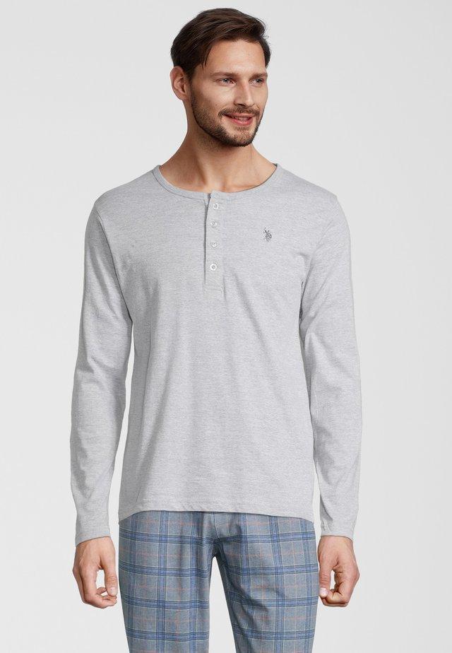 HENLEY - Sweatshirt - grey melange