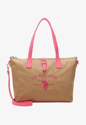 PATTERSON FLUO - Bolso de mano - beige/pink