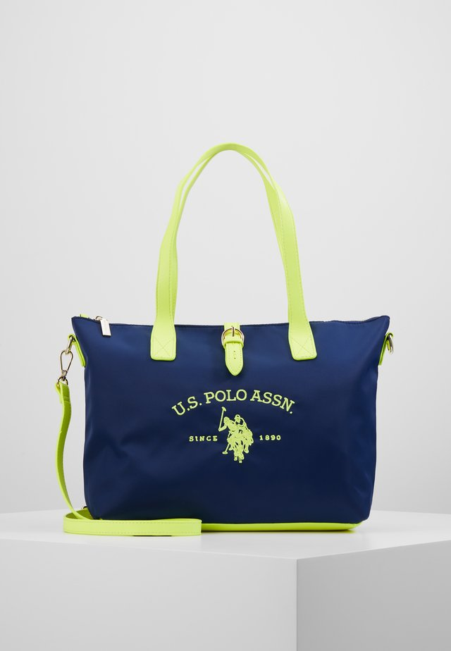 PATTERSON FLUO - Käsilaukku - navy/yellow