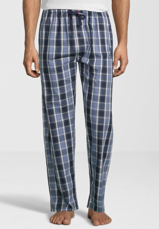 Pyjama bottoms - navy checked