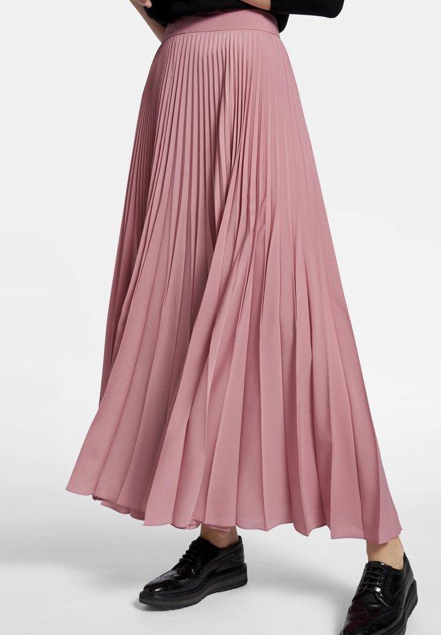 MIT SEITENREISSVERSCHLUSS - Pleated skirt - light pink