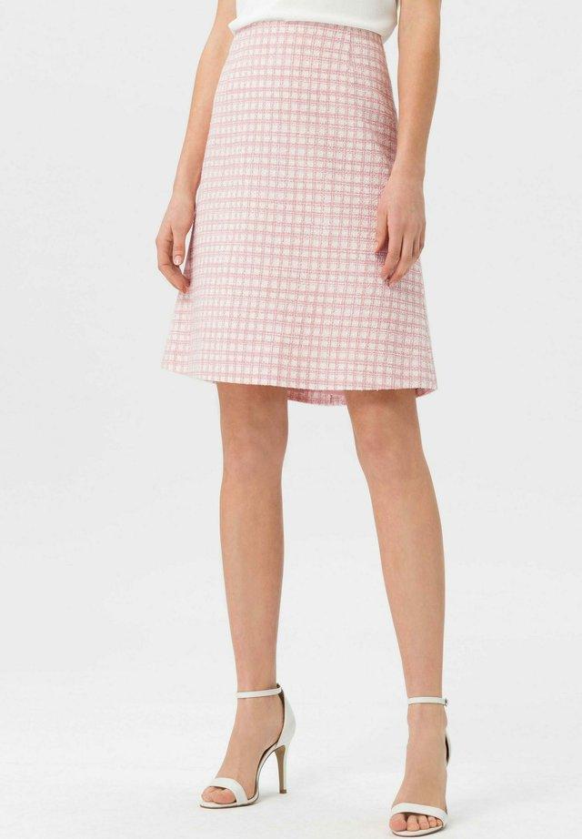 ROCK ROCK - A-line skirt - rosa/weiß