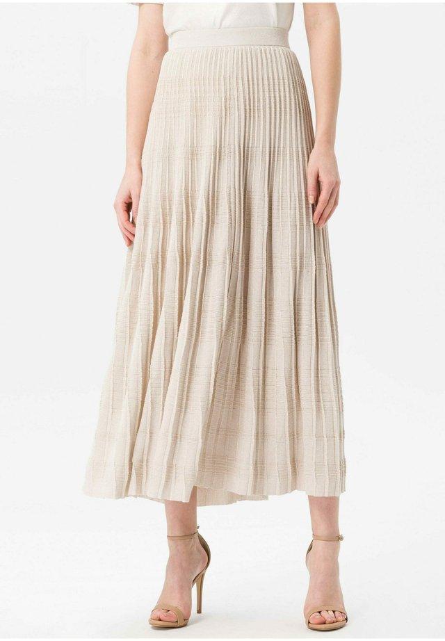 PLISSEE-ROCK PLISSEE-ROCK - Pleated skirt - beige