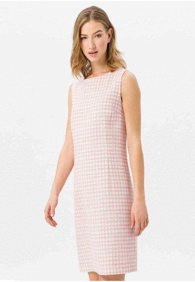 KLEID RUNDHALS-AUSSCHNITT - Korte jurk - rosa/weiß