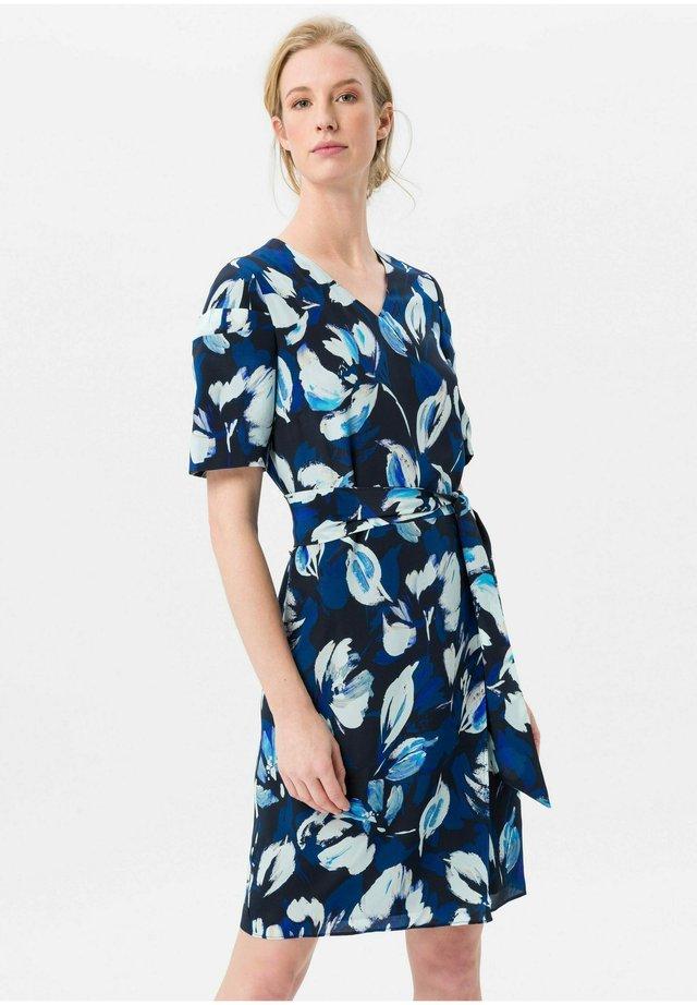 KLEID MIT SEIDE - Korte jurk - marine/royalblau