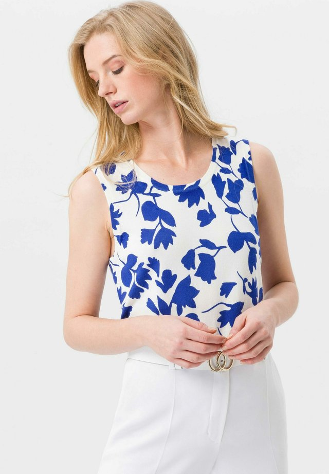UTA RAASCH STRICK-TOP STRICK-TOP - Top - off-white/ink blue