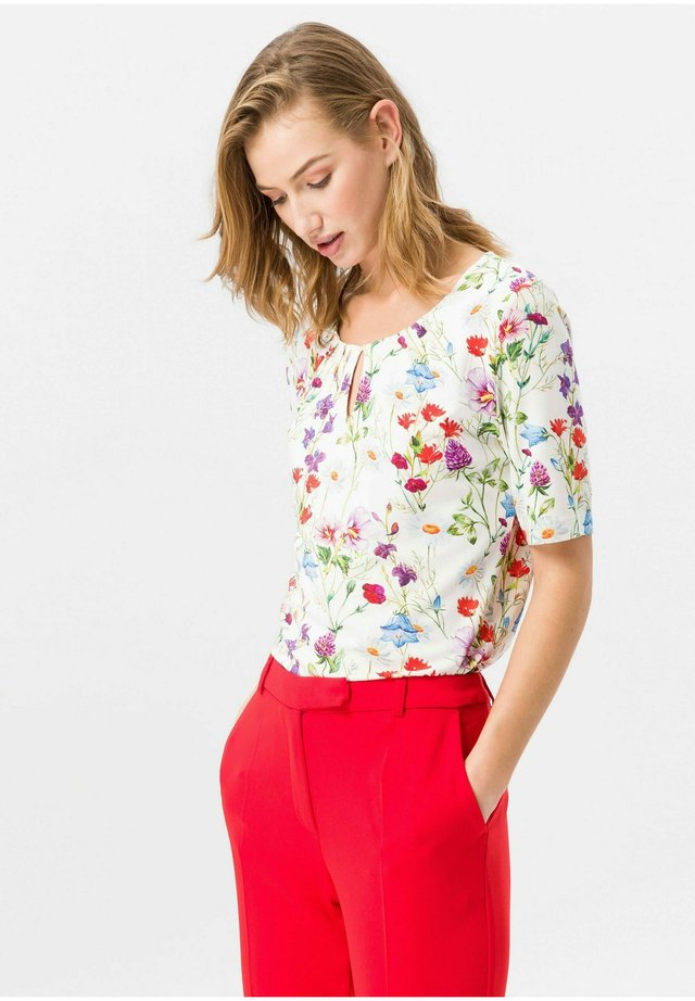 RUNDHALS-SHIRT RUNDHALS-SHIRT - Blouse - offwhite/multicolor