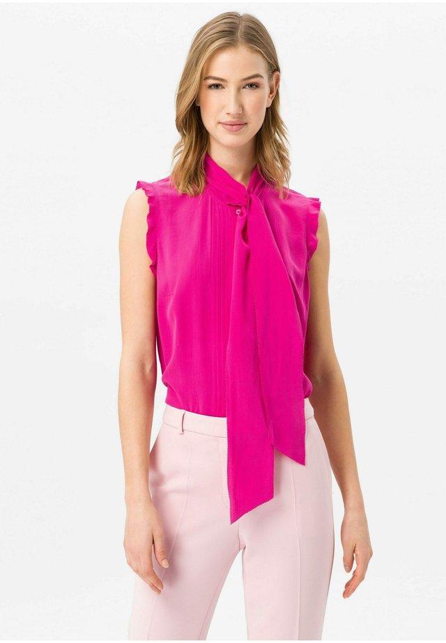 BLUSEN-TOP AUS 100% SEIDE - Skjortebluser - pink