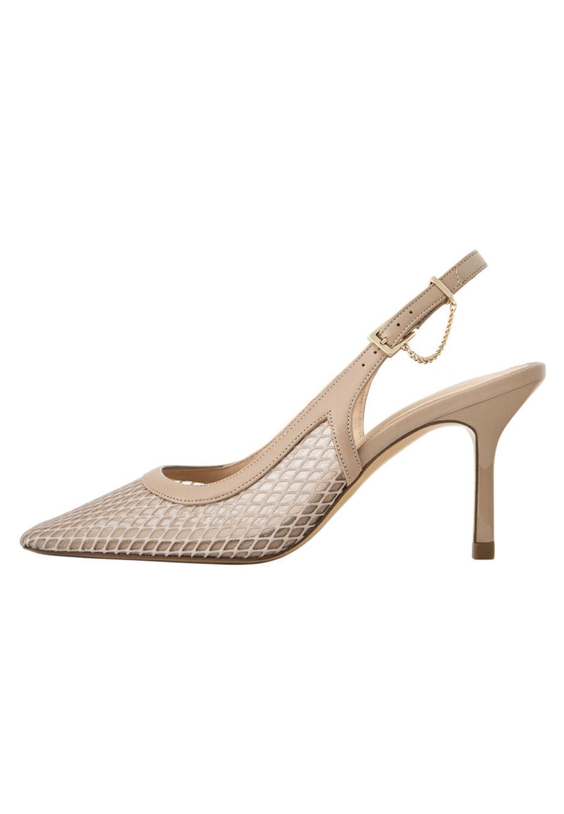 Uterqüe - SLINGPUMPS MIT GITTERMUSTER 15226580 - Classic heels - beige