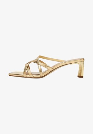 Sandaalit nilkkaremmillä - gold
