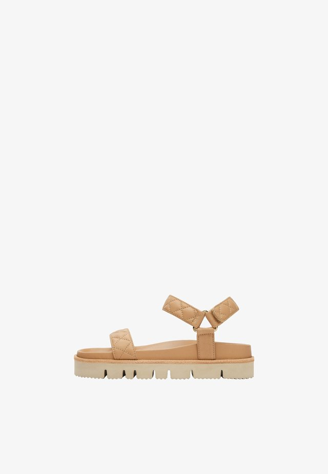 FLACHE LEDERSANDALEN 16600680 - Platform sandals - brown