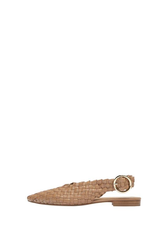 Ballerinaskor med slingback - brown