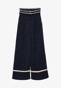 Uterqüe - MIT PASPELN - Trousers - dark blue - 5