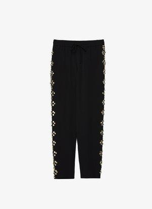 MIT STRASS - Spodnie treningowe - black