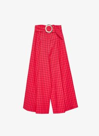 Uterqüe - MIT SCHNALLE - Trousers - red - 5