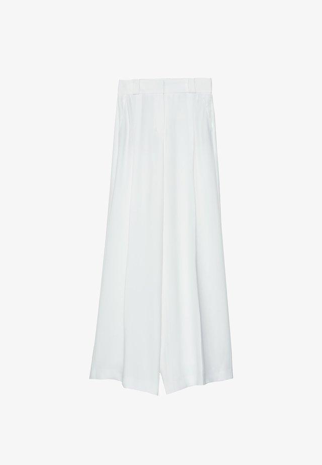 FLIESSENDE BUNDFALTENHOSE 00129260 - Spodnie materiałowe - white