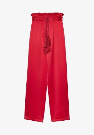 MIT QUASTEN - Trousers - red