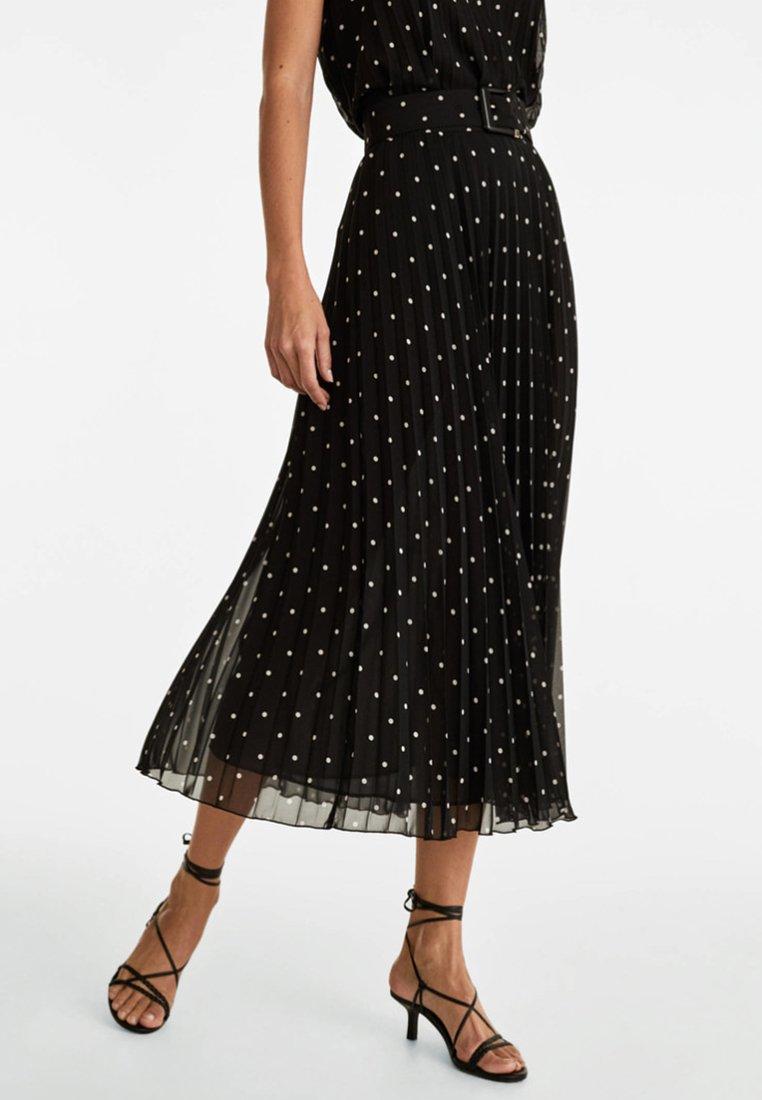 Uterqüe - A-snit nederdel/ A-formede nederdele - black