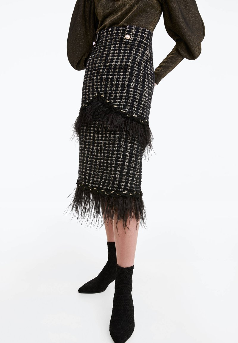 Uterqüe - A-line skirt - black