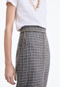 Uterqüe - Pencil skirt - grey - 3