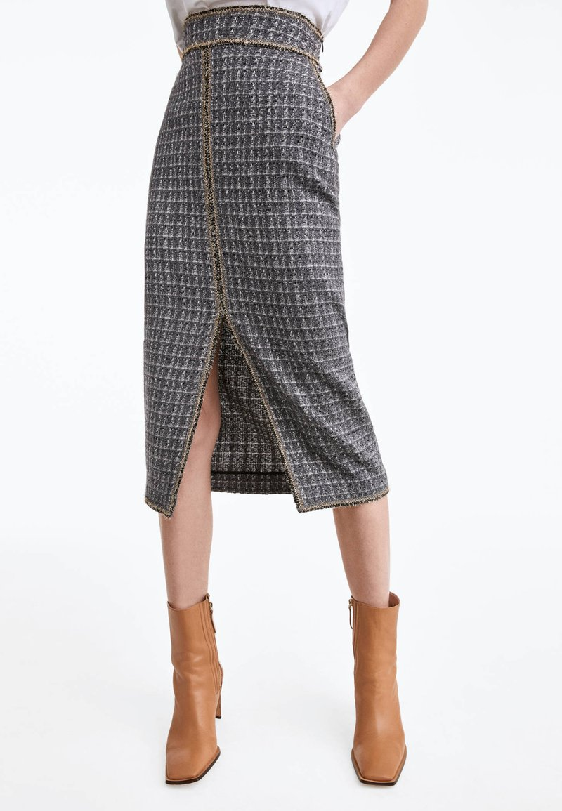 Uterqüe - Pencil skirt - grey
