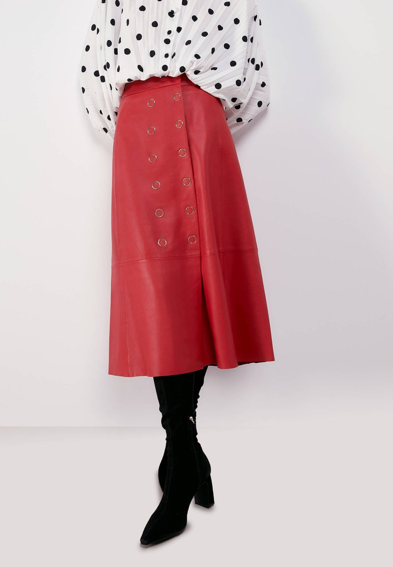 Uterqüe - A-line skirt - red