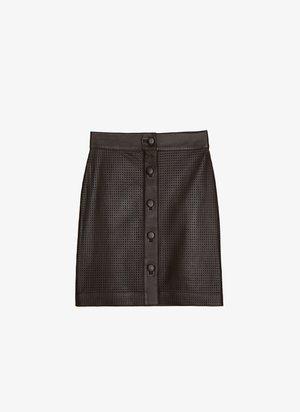MIT STANZMUSTER - A-line skirt - brown