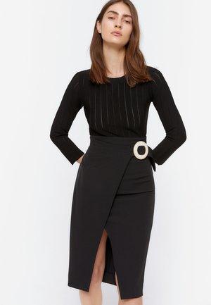 WICKELROCK MIT SCHNALLE 00310260 - Wrap skirt - black