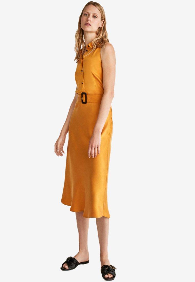 Uterqüe - Blusenkleid - mustard yellow