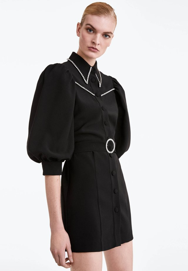 MIT STRASS - Sukienka koszulowa - black