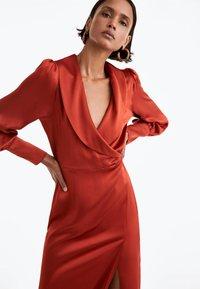 Uterqüe - Day dress - brown - 4