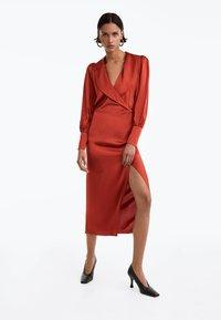 Uterqüe - Day dress - brown - 0