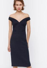 Uterqüe - Day dress - dark blue - 4