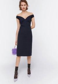 Uterqüe - Day dress - dark blue - 0