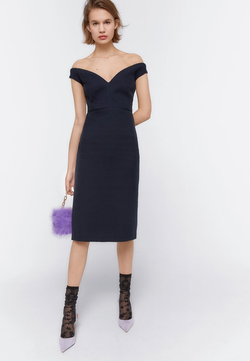 Uterqüe - Day dress - dark blue