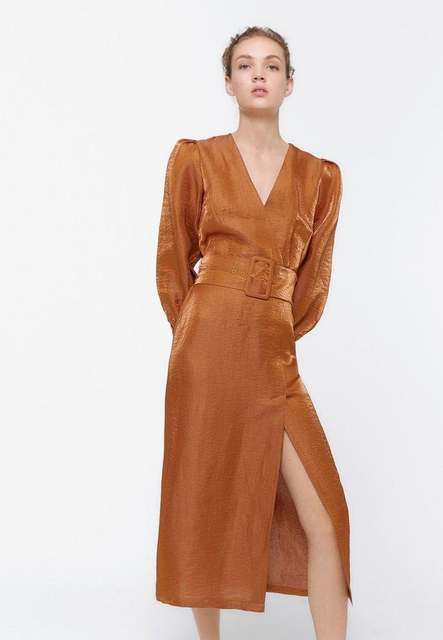 00509253 - Korte jurk - ochre