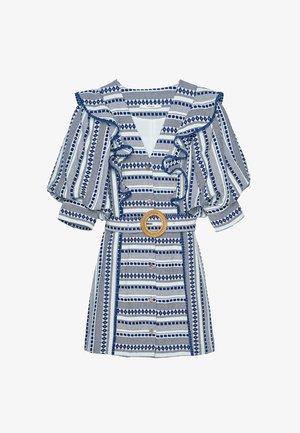 MIT PUFFÄRMELN - Košilové šaty - beige