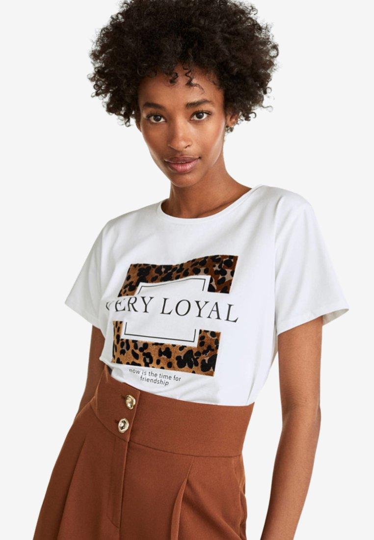 Uterqüe - T-shirt print - white