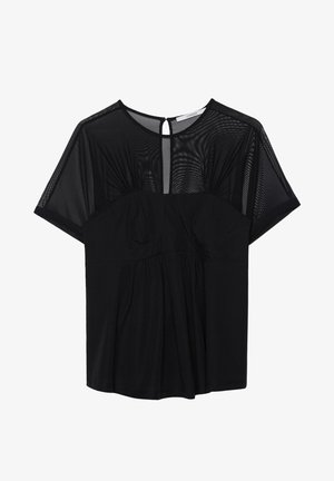 KORSETT SHIRT  - Blouse - black