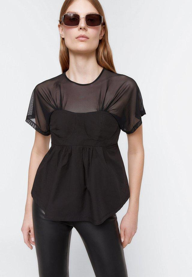 KORSETT SHIRT  - Blouse - black