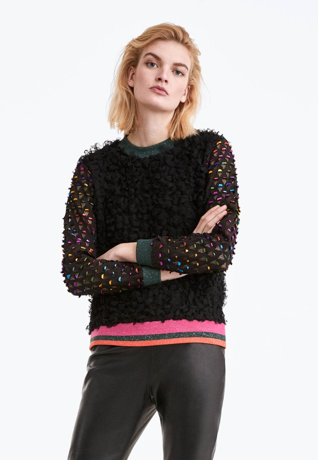 BUNTES AUSGEFALLENES SWEATSHIRT 01004350 - Sweatshirt - black