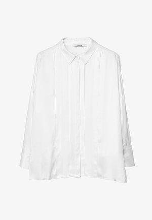MIT ZIERFALTEN - Camicia - white